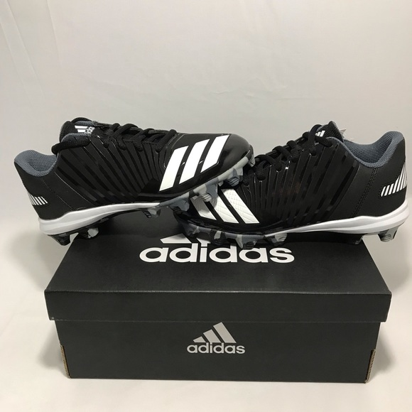 ed0422974 ADIDAS Icon MD K kids Black White Baseball Cleats